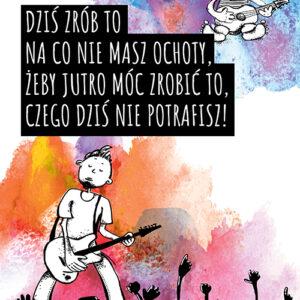 Plakat motywacyjny- gitarzysta
