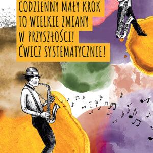Plakat motywacyjny- saksofonista